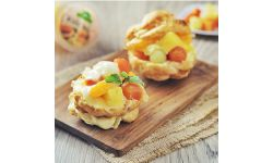 Choux Pastry with Fruit Vla
